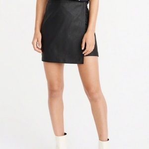 NWT wrap faux leather skirt